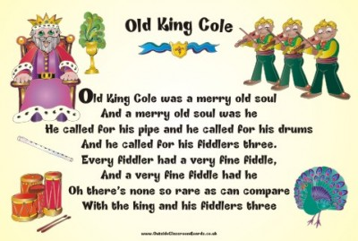 NURSERY RHYME - OLD KING COLE