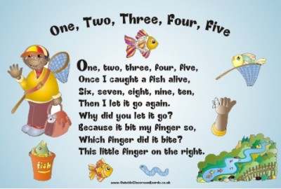 NURSERY RHYME - ONE, TWO, THREE, FOUR, FIVE