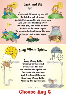 NURSERY RHYMES - SET OF SIX FOR THE PRICE OF FIVE