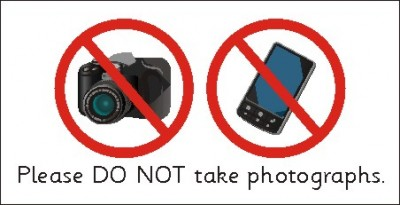 SAFETY SIGN - PLEASE DO NOT TAKE PHOTOGRAPHS