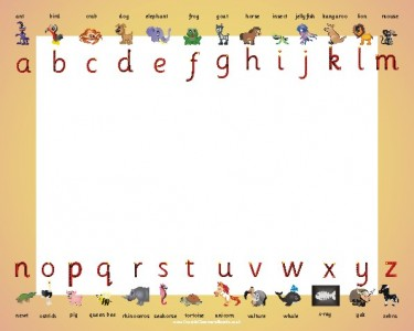 ANIMAL ALPHABET LETTER FORMATION OUTSIDE DRY/WIPE WHITEBOARD