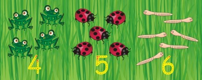 GARDEN COUNTING, NUMBER RECOGNITION & FORMATION WALL FRIEZE 0-10