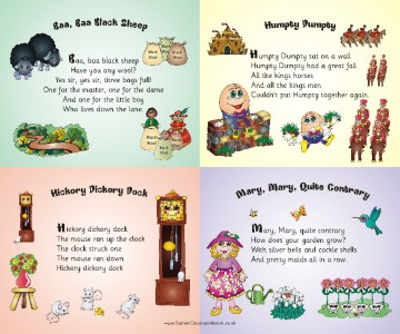 Nursery Rhyme Quartets - 4 Rhymes... 1 Board