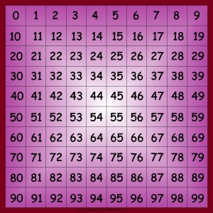 0-99 NUMBER SQUARE