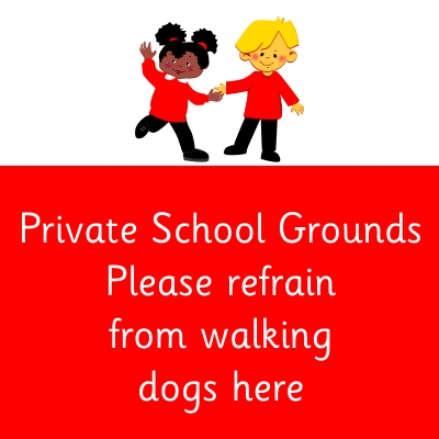 Private School Grounds please refrain from walking dogs here