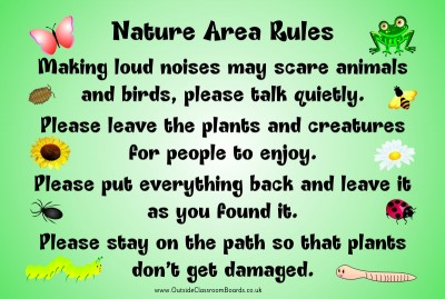 NATURE AREA RULES