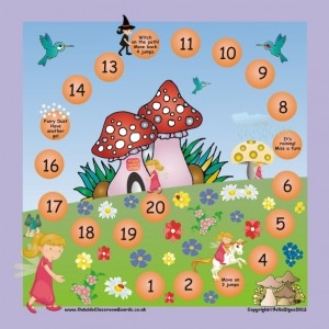 LARGE MAGNETIC FAIRY GAME BOARD & PIECES
