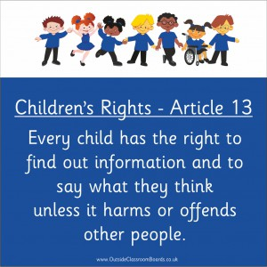 CHILDREN'S RIGHTS ARTICLE 13