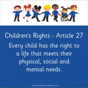 CHILDREN'S RIGHTS ARTICLE 27
