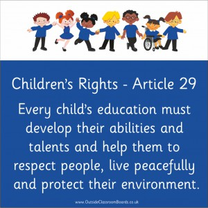 CHILDREN'S RIGHTS ARTICLE 29