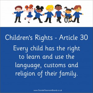 CHILDREN'S RIGHTS ARTICLE 30