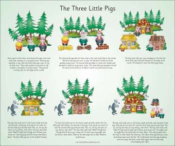 TRADITIONAL TALES - THREE LITTLE PIGS