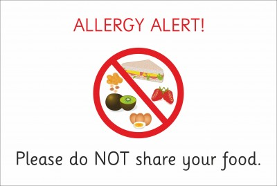 SAFETY SIGN - ALLERGY ALERT