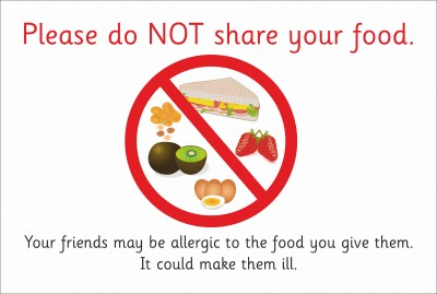 SAFETY SIGN - DO NOT SHARE YOUR FOOD