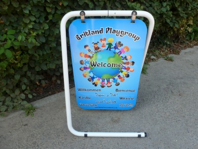 FREESTANDING FOLDING PERSONALISED WELCOME BOARD SWING SIGN