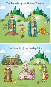 SET OF 10 INDIVIDUAL PARABLE PLAQUES