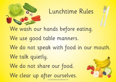 LUNCHTIME RULES - A2 PAPER POSTER