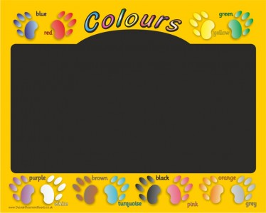 CHALKBOARD - COLOURS