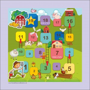 LARGE OUTSIDE GAME BOARD & PIECES - FARM