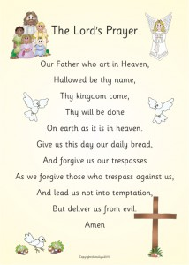 LORD'S PRAYER PAPER POSTER