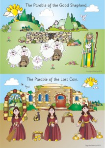 2 PARABLES - A2 PAPER POSTER - GOOD SHEPHERD