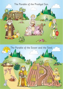 2 PARABLES - A2 PAPER POSTER - PRODIGAL SON