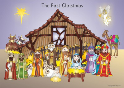THE NATIVITY WEATHERPROOF POSTER BOARD