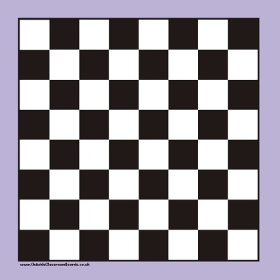 LARGE MAGNETIC OUTSIDE CHEQUERED GAME BOARD WITH DRAUGHTS
