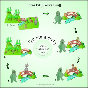 "MAGNETIC ""TELL ME A STORY"" BILLY GOATS GRUFF"