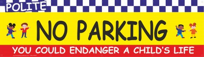 2m Yellow No Parking Banner with eylets