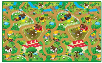 WATERPROOF FARM PLAY MAT