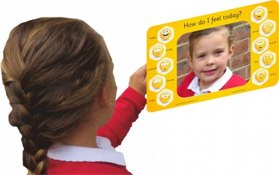 HAND HELD EMOJI EMOTIONS MIRROR BOARD