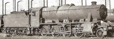 GL54 LMS / BR STANIER 8F 2-8-0 with FOWLER 3500g FLAT SIDED TENDER
