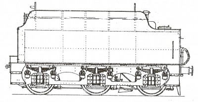 GLT04 LMS / BR STANIER 9 TONS 4000 GALLONS RIVETTED