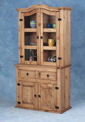 Corona Mexican Glass Display Cabinet