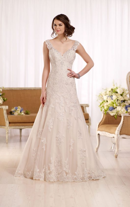 ... Formal White Lace Sweep Train Bridal Gown Simple Popular Custom Made Plus  Size Wedding Dress BA3872