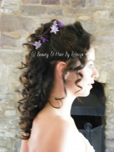 A variety of bridal hairstyles ranging from Pleats to curls, and loops