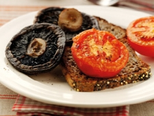 Tomato and mushrooms on wholemeal toast