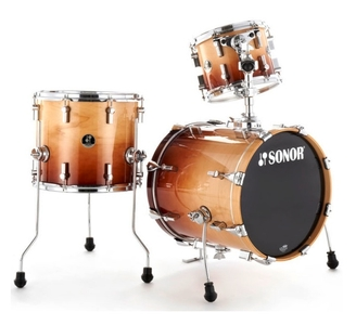 """Bop//Jungle Green To Black Fade NEW SONOR SELECT FORCE Maple 10/"""" x 8/"""" TOM DRUM"""
