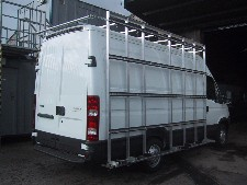 Glass/Garage Door carrier with interior frames and outer frails plus roof rack