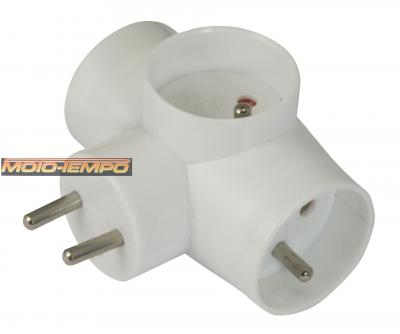 FRENCH PLUG ADAPTOR (FRENCH>FRENCH) - YD-330 / 16A 250V
