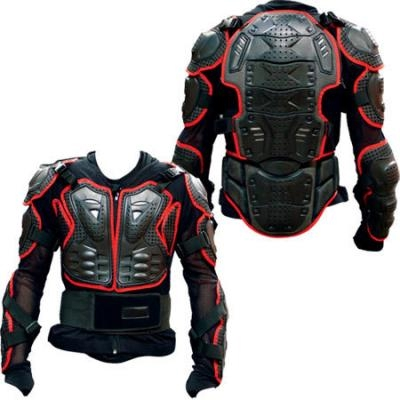 LONG ARMOURED VEST JACKET Small / Med CE BODY ARMOUR MX MotoX Enduro Motocross