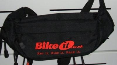 BLACK NYLON BIKE IT BUM BAG...NICE GIFT
