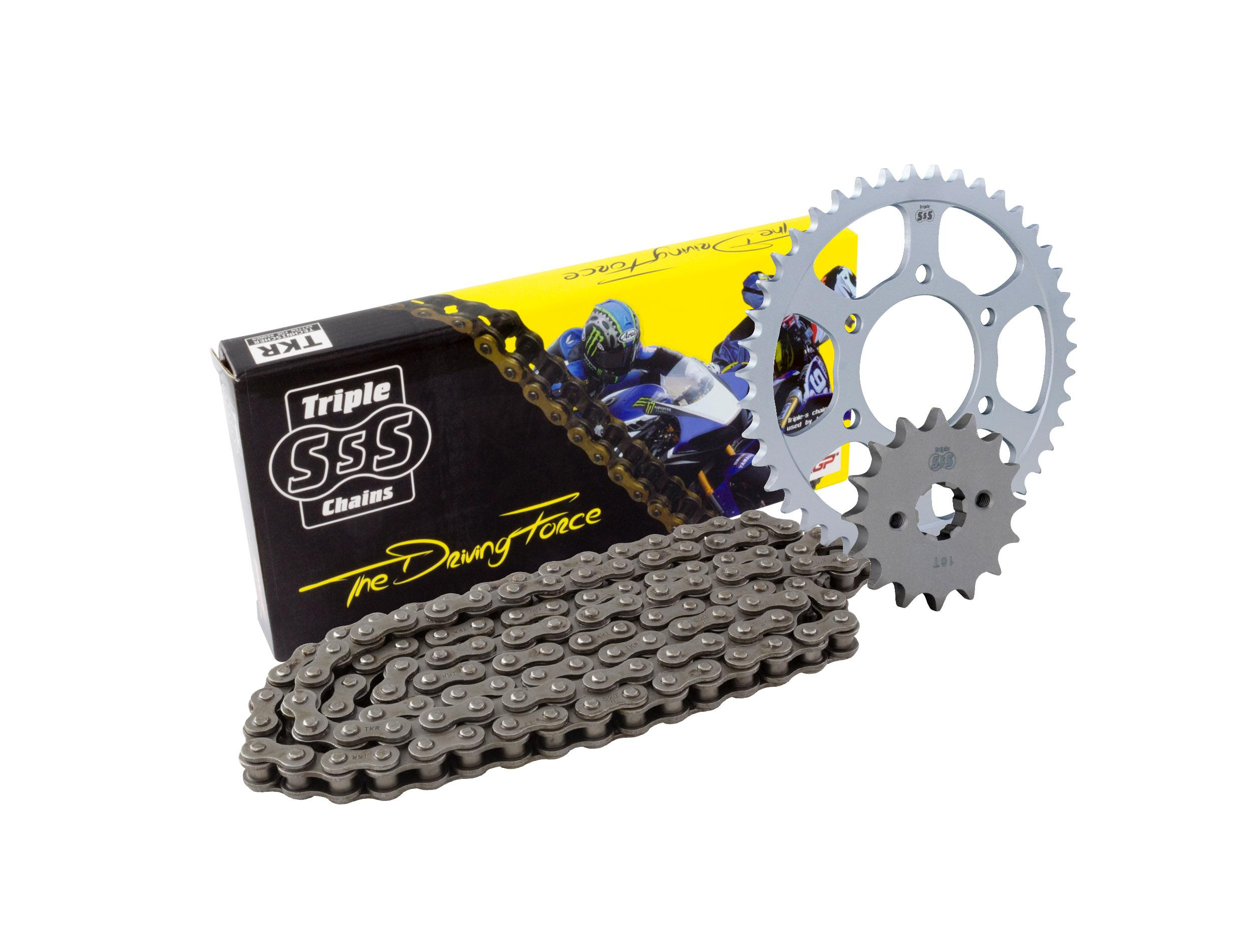 Hyosung XRX125 Funduro / SM 07-08 Chain & Sprocket Kit: 14T Front, 48T Rear, HD Chain 428H 132Link