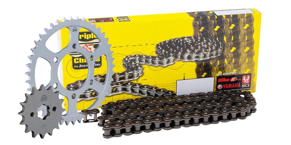 Suzuki Chain & Sprocket Kit: 16T Front, 50T Rear, HD Chain 428H 130Link