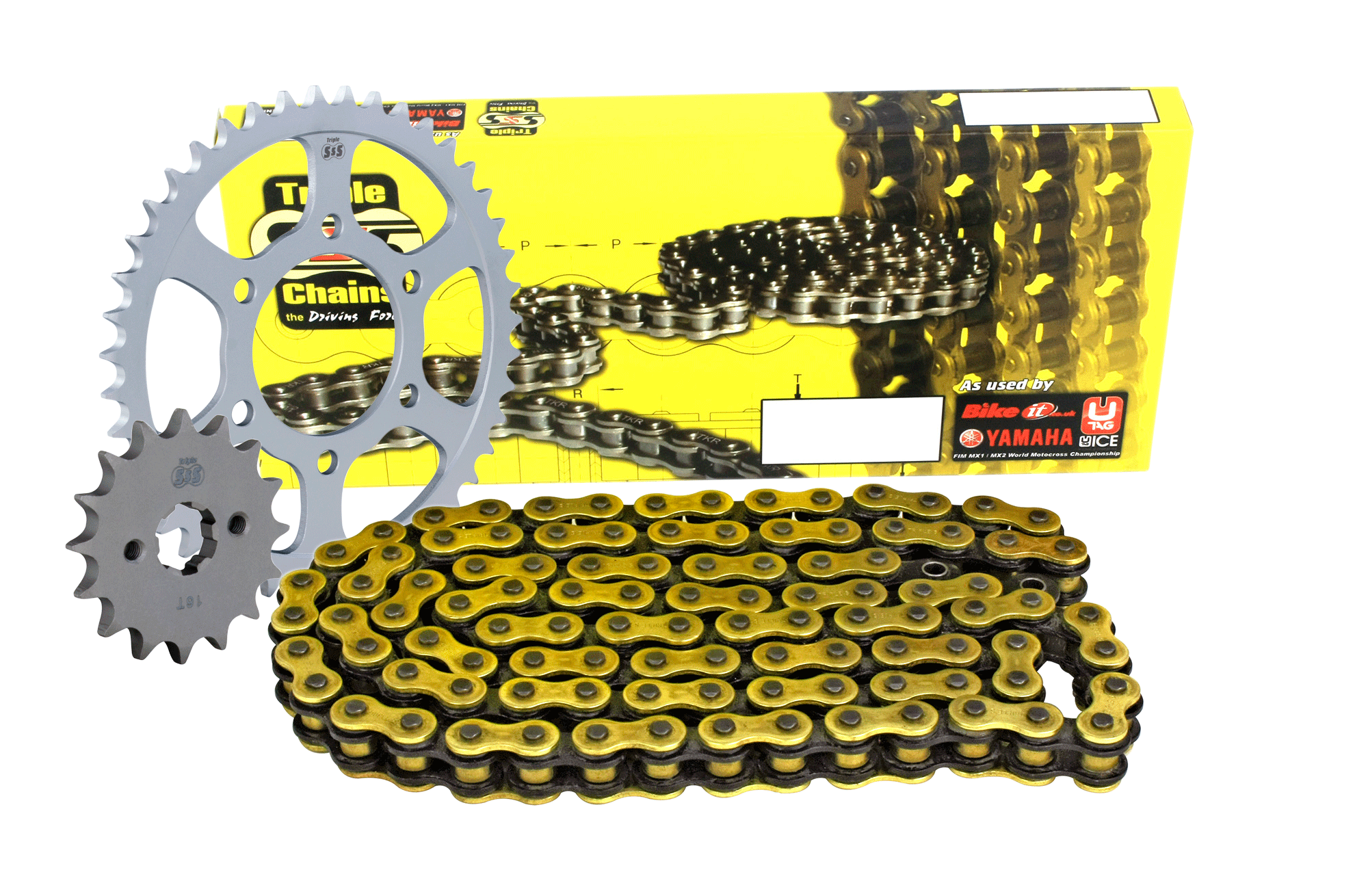 Suzuki GSX-R1000 K7-K8 07-08 Chain & Sprocket Kit: 17T Front, 43T Rear, HD O-Ring Gold Chain 530H 112 Link