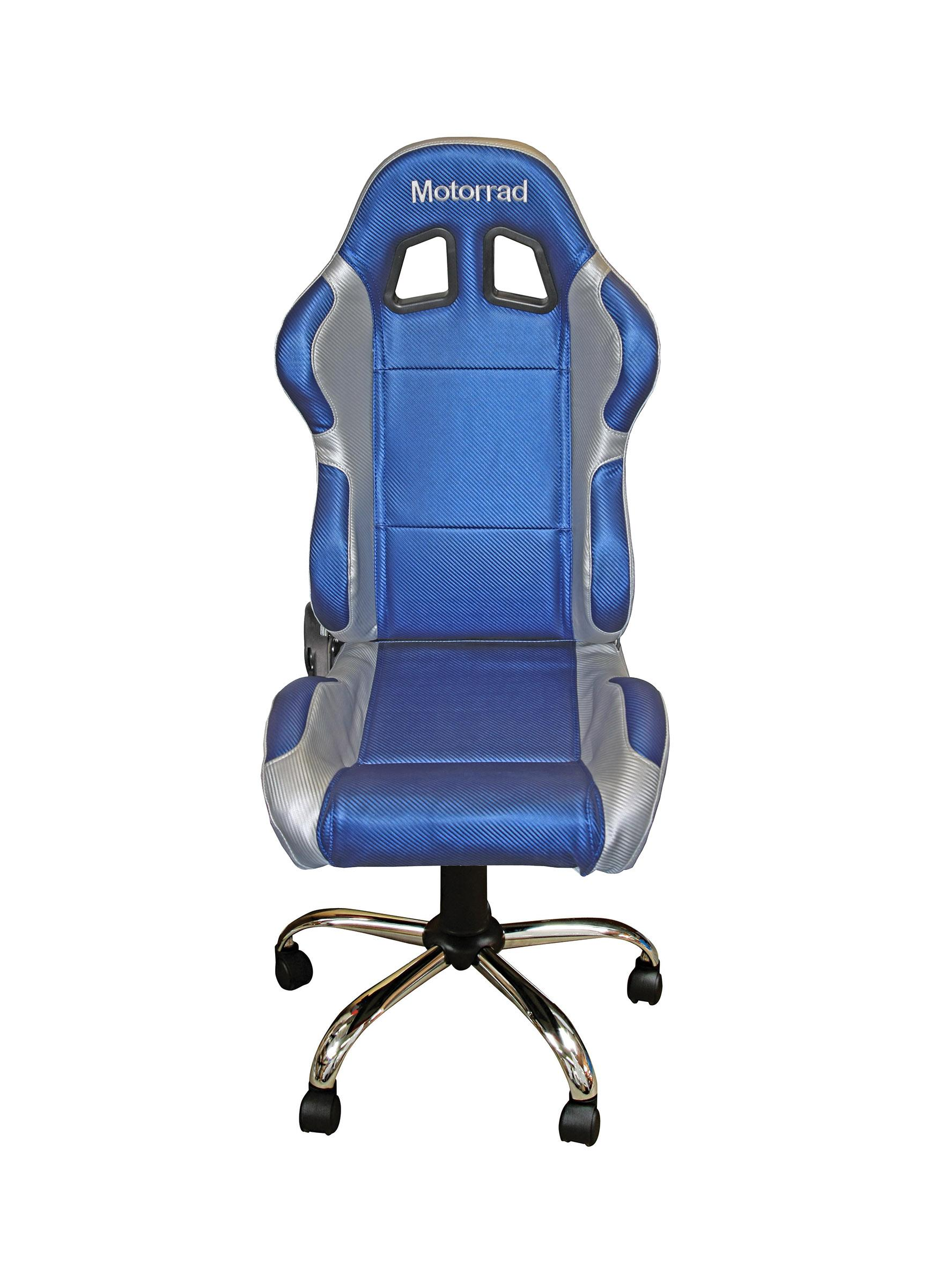 RIDER PADDOCK TEAM CHAIR - MOTORRAD BLUE WITH SILVER TRIM