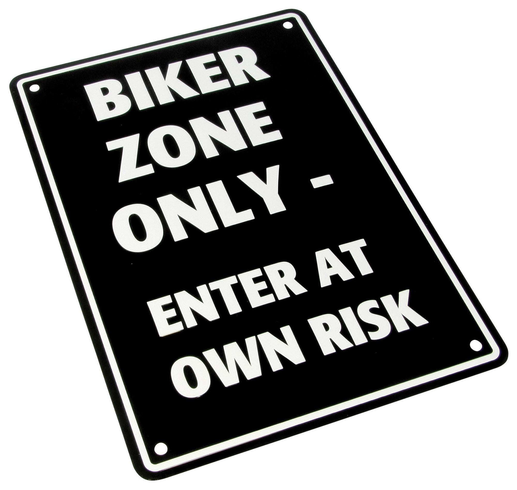 PARKING SIGN  Biker Zone Only