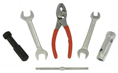 TOOL KIT EMERGENCY PLIERS DRIVERS SPANNE 10 12 14 AND 17MM SOCKET HEADS 12 AND 17MM
