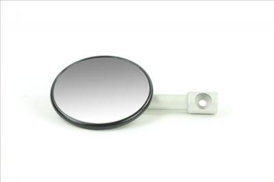 Universal Mirrors. Bar End Mount Mirror Black casing, alloy stem